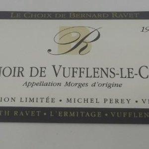 Le Choix de Bernard Ravet 1990 Bernard & Ruth Ravet. L'ermitage. Etiqueta impecable 10,7x4,7cm