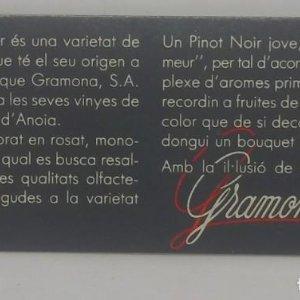 Gramona. Pinot Noir. Etiqueta impecable 9x4cm