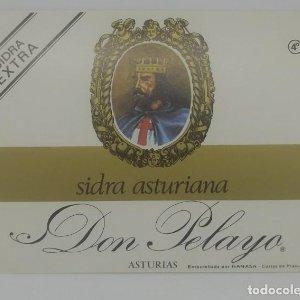 Don Pelayo. Sidra asturiana. Hanasa. Corias de pravia. Etiqueta impecable 12,5x9,3cm