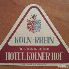 Etiquetas antiguas: ETIQUETA HOTEL. Lote 162905270