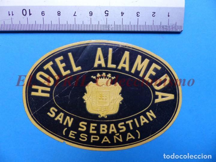 Etiquetas antiguas: 18 ANTIGUAS ETIQUETAS DIFERENTES DE HOTEL DE CIUDADES ESPAÑA Y EXTRANJERO, VER FOTOS ADICIONALES - Foto 14 - 162932474