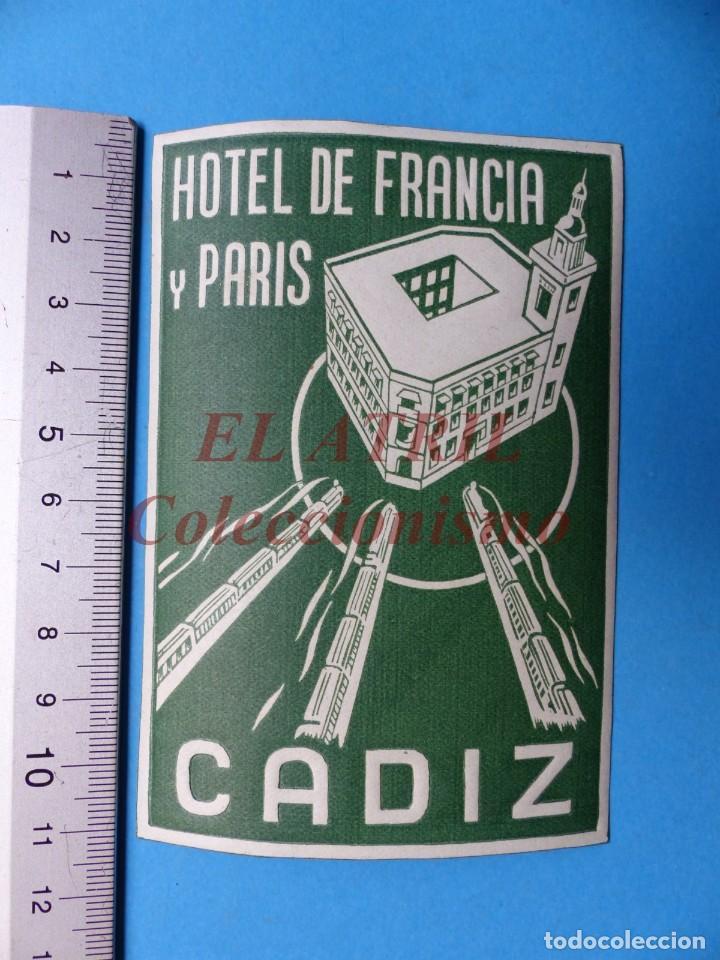 Etiquetas antiguas: 18 ANTIGUAS ETIQUETAS DIFERENTES DE HOTEL DE CIUDADES ESPAÑA Y EXTRANJERO, VER FOTOS ADICIONALES - Foto 17 - 162932474
