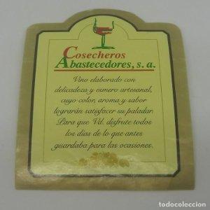 Cosecheros Abastecedores S.A. Etiqueta de vino 6,5x8,3cm