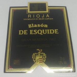 Blasón de Esquide. Gran Reserva 1987 Castillo de Fuenmayor. Rioja Alta.. Etiqueta 13x10cm