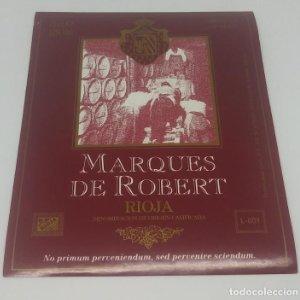 Marques de Robert. Rioja. Etiqueta 13x10,5cm