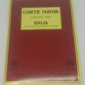 Corte Mayor. Crianza 1990. Oyon. Rioja Alavesa. Etiqueta 13x9,5cm