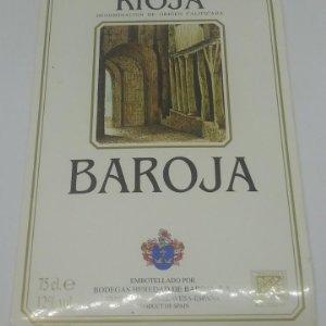 Baroja. Rioja. Bodegas Heredad de Baroja. Elvillar. Rioja Alavesa. Etiqueta 14x9,5cm