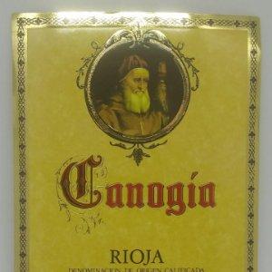 Canogia. Rioja. Santamaría Lopez. Laguardia. Rioja Alavesa. Etiqueta 12,7x10