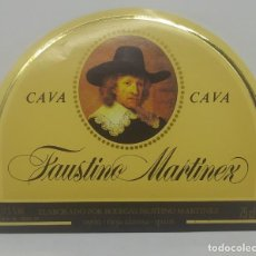 Etiquetas antiguas: CAVA FAUSTINO MARTINEZ. BODEGAS FAUSTINO. OYÓN. RIOJA ALAVESA. ETIQUETA NUNCA PEGADA EN BOTELLA. Lote 162950338