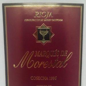 Marques de Morestal. Cosecha 1996. Bodegas Ubide. Laguardia. Rioja Alavesa. Etiqueta 13x10cm