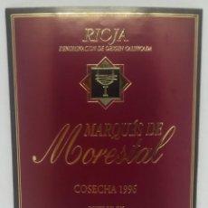Etiquetas antiguas: MARQUES DE MORESTAL. COSECHA 1996. BODEGAS UBIDE. LAGUARDIA. RIOJA ALAVESA. ETIQUETA 13X10CM. Lote 162950606
