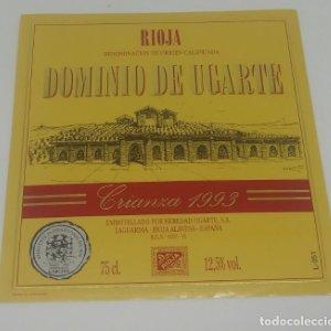 Dominio de Ugarte. Crianza 1993. Heredio Ugarte. Laguardia. Rioja Alavesa. Etiqueta 10,5x10cm