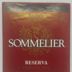 Sommelier reserva. COsecha 1973 Bodegas en Laguardia y Labastida. Rioja Alavesa. Etiqueta 12x10,2cm