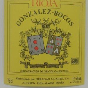 Gonzalez - Boscos. Rioja. Heredad Ugarte. Laguardia. Rioja Alavesa. Etiqueta 10,5x10cm