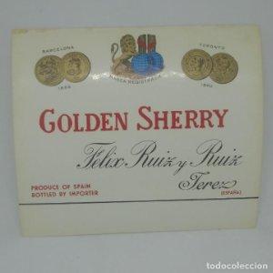 Golden Sherry. Felix Ruiz y Ruiz, Jerez. Etiqueta 12,4x10,8cm