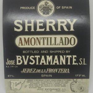 Amontillado Bustamante. Jerez de la frontera. Etiqueta 12,4x10,4cm