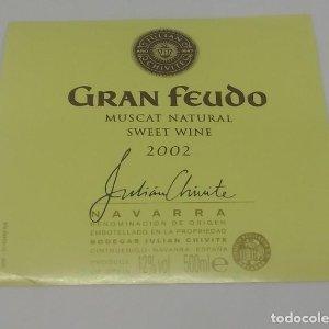 Gran Feudo. Muscat neutral Sweet wine 2002 Bodegas Julian Chivete. Navarra. Etiqueta 8,5x7,8cm