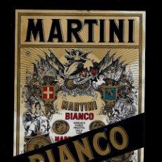 Etiquetas antiguas: ETIQUETA VERMOUTH - MARTINI - BIANCO - MARTINI & ROSSI. Lote 163056982