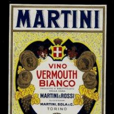 Etiquetas antiguas: ETIQUETA VERMOUTH - MARTINI - BIANCO - MARTINI $ ROSSI. Lote 163057186