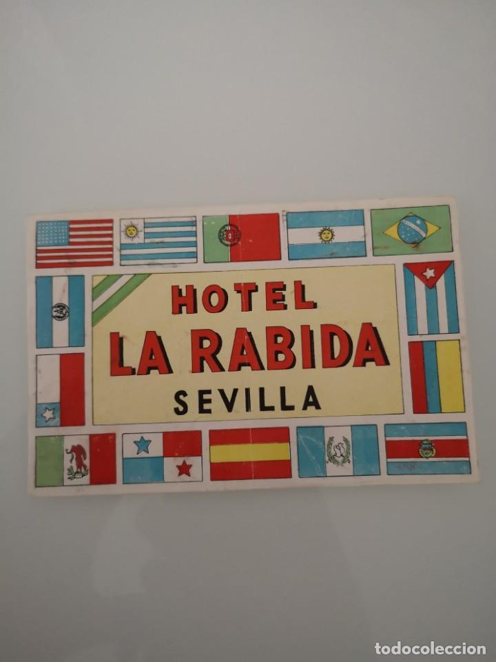 ETIQUETA HOTEL LA RABIDA SEVILLA (Coleccionismo - Etiquetas)