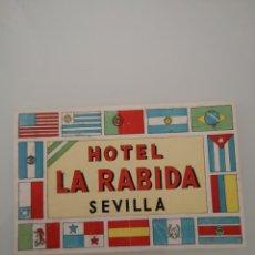 Etiquetas antiguas: ETIQUETA HOTEL LA RABIDA SEVILLA . Lote 163711006