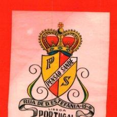 Etiquetas antiguas: PENSÁO SANDE - LISBOA - PORTUGAL. - ETIQUETA ANTIGUA DE HOTEL. Lote 164778354