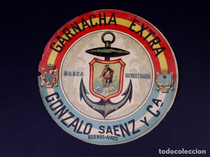 GARNACHA EXTRA EL CANO. GONZALEZ SAENZ Y CIA, BUENOS AIRES (Coleccionismo - Etiquetas)