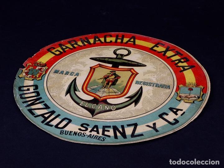 Etiquetas antiguas: GARNACHA EXTRA EL CANO. GONZALEZ SAENZ Y CIA, BUENOS AIRES - Foto 2 - 165226822