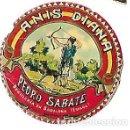 Etiquetas antiguas: MINI ETIQUETA AÑOS 30 ** ANIS DIANA -PEDRO SABATE - DESTILERIAS EN BADALONA ( ESPAÑA). Lote 165789254