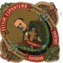 Etiquetas antiguas: ETIQUETA AÑOS 30 ** ELIXIR ESPARTERO - SUPERIOR CALIDAD **. Lote 165789162