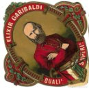 Etiquetas antiguas: ETIQUETA AÑOS 30 ** ELIXIR GARIBALDI ** . Lote 165789209