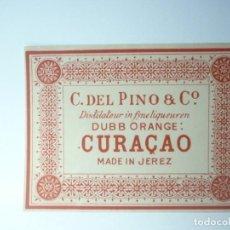 Etiquetas antiguas: ETIQUETA CURACAO. CURACAO. JEREZ. Lote 165815254