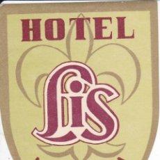 Etichette antiche: ANTIGUA ETIQUETA DEL HOTEL LIS DE MALAGA. Lote 165955786