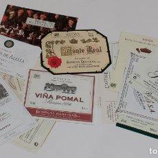 Etiquetas antiguas: LOTE DE 24 ETIQUETAS DE VINO, CAVA. . Lote 167162708