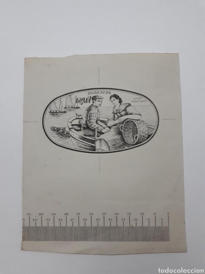 PESCADOS VARGA. BOCETO PARA PUBLICIDAD (Coleccionismo - Etiquetas)