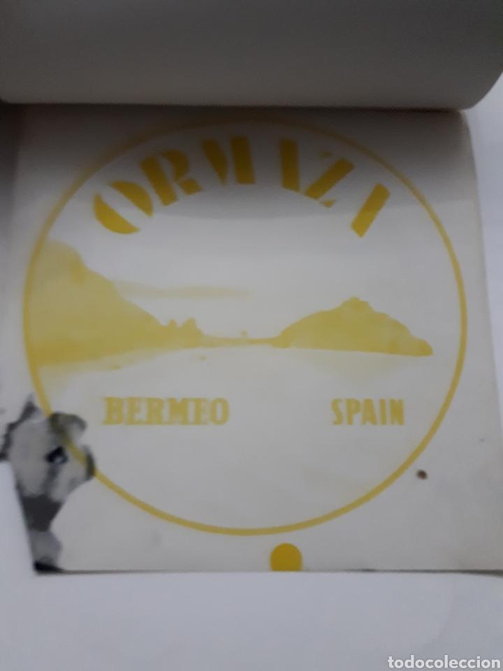 Etiquetas antiguas: ORMAZA brand BERMEO (Vizcaya) SPAIN. Cuadernillo con siete pruebas de color - Foto 7 - 168643705