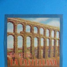 Etiquetas antiguas: ANTIGUA ETIQUETA GALLETAS LA CASTELLANA, SEGOVIA. Lote 168734960