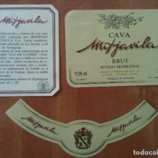 Etiquetas antiguas: ETIQUETAS CAVA MITJAVILA - LA SECUITA / TARRAGONA. Lote 168994864