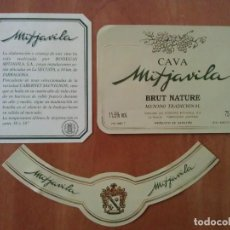 Etiquetas antiguas: ETIQUETAS CAVA MITJAVILA - LA SECUITA - TARRAGONA. Lote 168995080