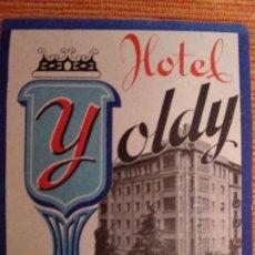 Etiquetas antiguas: ETIQUETA HOTEL YOLDY, PAMPLONA. Lote 236466060