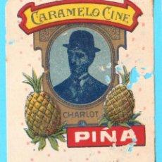 Etiquetas antiguas: ENVOLTORIO CARAMELOS CINE. PIÑA. CHARLES CHAPLIN, CHARLOT. 1920'S.. Lote 289878608