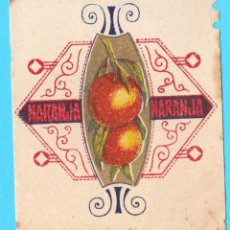 Etiquetas antiguas: ENVOLTORIO CARAMELO NARANJA. 1920'S.. Lote 169875972