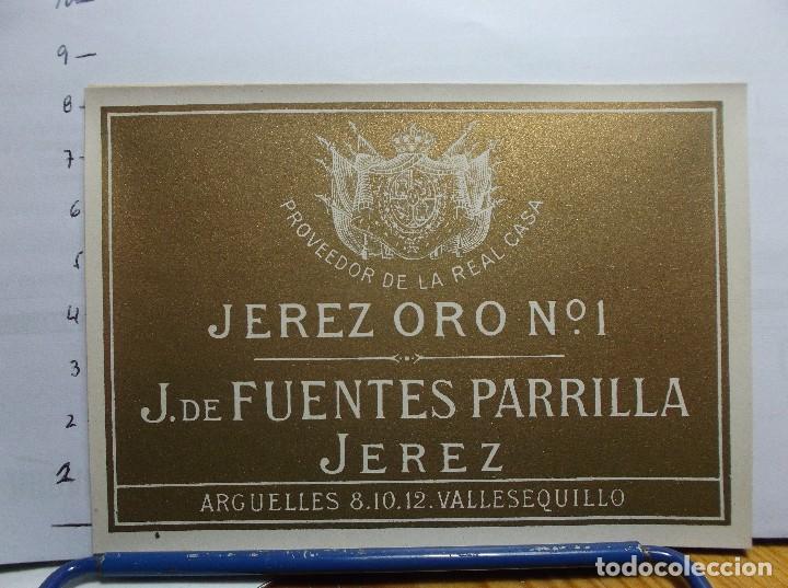 ETIQUETA DE UNA BODEGA DE JEREZ FRA. ANTIGUA. (Coleccionismo - Etiquetas)