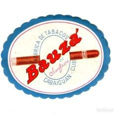 Etiquetas antiguas: CUBA JUAN BAUZÁ FABRICA DE TABACOS CABAIGUAN-CLUB MEDIDAS APROX. 7 X 5,5 CMS. AÑOS 50. Lote 170893845