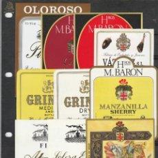 Etiquetas antiguas: ETIQUETAS DE VINOS - BODEGAS BARON - 10 ETIQUETAS - NUEVAS. Lote 171664049