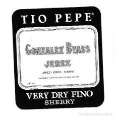 Etiquetas antiguas: ETIQUETA DE VINO. GONZALEZ BYASS JEREZ. VERY DRY FINO SHERRY. Lote 172617357