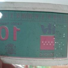 Etiquetas antiguas: PEGATINA ADHESIVO - ITV MADRID - HASTA 2010 - SIN USAR - AUTOMOVIL. Lote 174099128