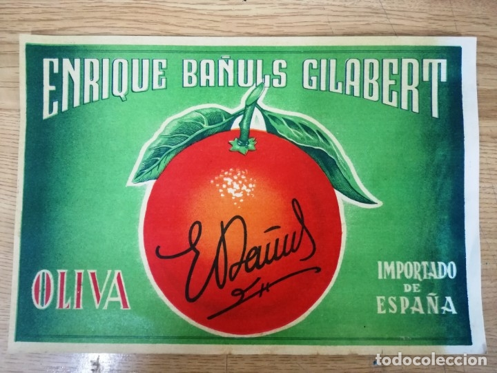 Etiquetas antiguas: LOTE DE 4 ETIQUETAS NARANJAS.OLIVA VALENCIA - Foto 8 - 176172718
