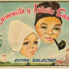 Etichette antiche: ETIQUETA DE NARANJAS CARMENCITA Y LUISITO. Lote 248797905
