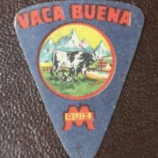 Etiquetas antiguas: ETIQUETA QUESO VACA BUENA - M RUIZ - MEDIDAS 3X3,5 CMS. Lote 176802764
